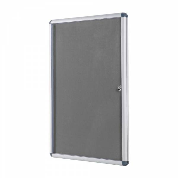 Lockable Fabric Noticeboard - Grey (60x90)