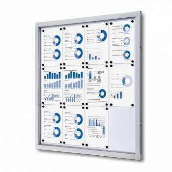 Lockable Notice Board SCO, 12xA4