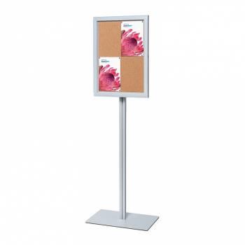 Freestanding Indoor Lockable Dry Wipe Noticeboard