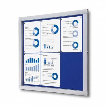 Lockable Notice Board SCOF, BLUE, 6xA4