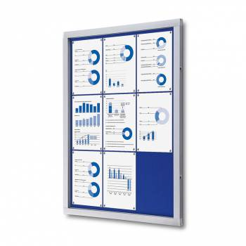 Lockable Notice Board SCOF, BLUE, 9xA4