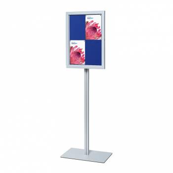 Freestanding Indoor Lockable Dry Wipe Noticeboard BLUE