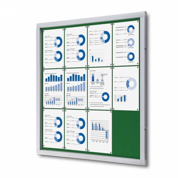Lockable Notice Board SCOF, GREEN, 12xA4
