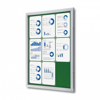 Lockable Notice Board SCOF, GREEN, 9xA4