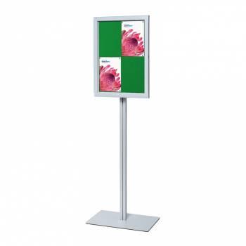 Freestanding Indoor Lockable Dry Wipe Noticeboard GREEN