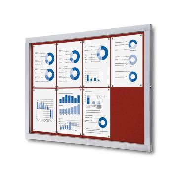 Lockable Notice Board SCOF, RED, 8xA4