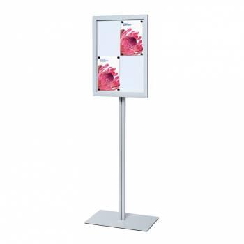 Freestanding Indoor Lockable Dry Wipe Noticeboard, Magnetic