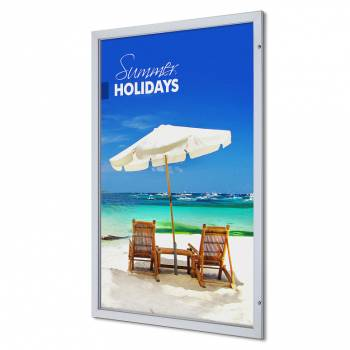 1200x1800mm Lockable Poster Case Premium