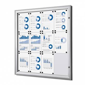 12xA4 Lockable Dry Wipe Noticeboard