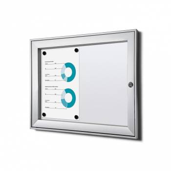 2xA4 Lockable Dry Wipe Noticeboard, Fire Rated