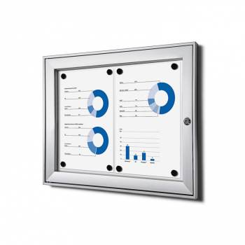 2xA4 Lockable Dry Wipe Noticeboard