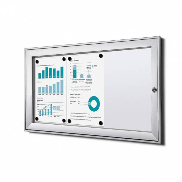 3xA4 Lockable Dry Wipe Noticeboard, Fire Rated