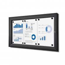 3xA4 Lockable Dry Wipe Noticeboard, black