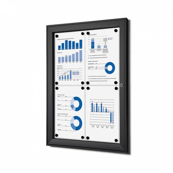 Black Noticeboard Indoor / Outdoor (4xA4)