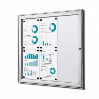 6xA4 Lockable Dry Wipe Noticeboard, Fire Rated
