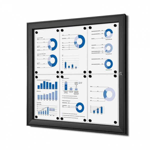 Black Noticeboard Indoor / Outdoor (6xA4)