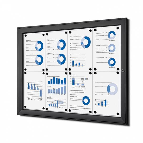 Black Noticeboard Indoor / Outdoor (8xA4)