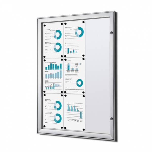 9xA4 Lockable Dry Wipe Noticeboard, Fire Rated