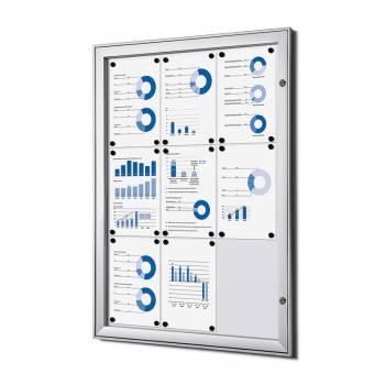 9xA4 Lockable Dry Wipe Noticeboard