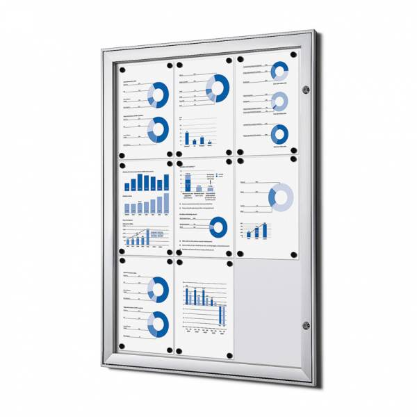 9xA4 Lockable Dry Wipe Noticeboard