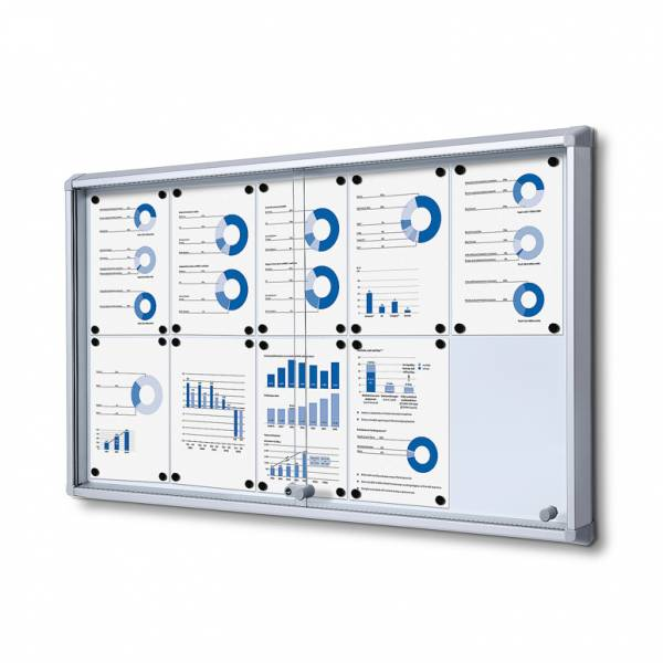 Fire-proof Noticeboard with sliding doors (10xA4)