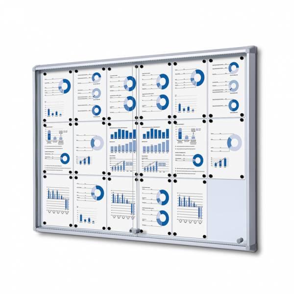 Fire-proof Noticeboard with sliding doors (18xA4)