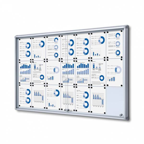 Fire-proof Noticeboard with sliding doors (21xA4)