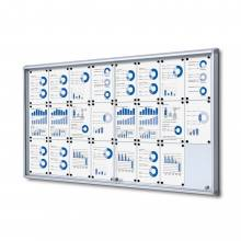 Sliding Indoor Lockable Noticeboard
