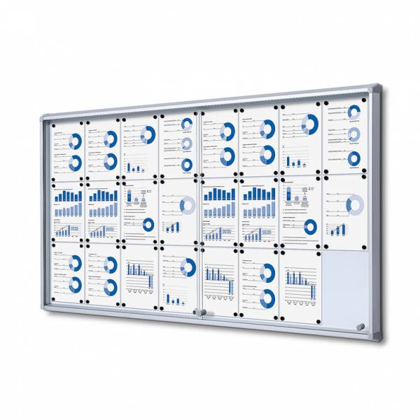 Fire-proof Noticeboard with sliding doors (24xA4)