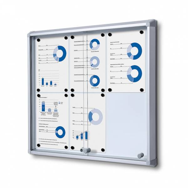 Fire-proof Noticeboard with sliding doors (6xA4)