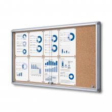 Cork Board with sliding doors (10xA4)