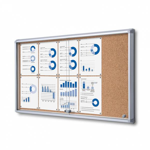 Cork Board with sliding doors (10xA4)