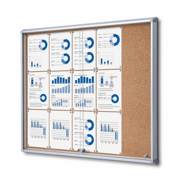 SCSLC Cork Sliding Door Notice Board 15xA4