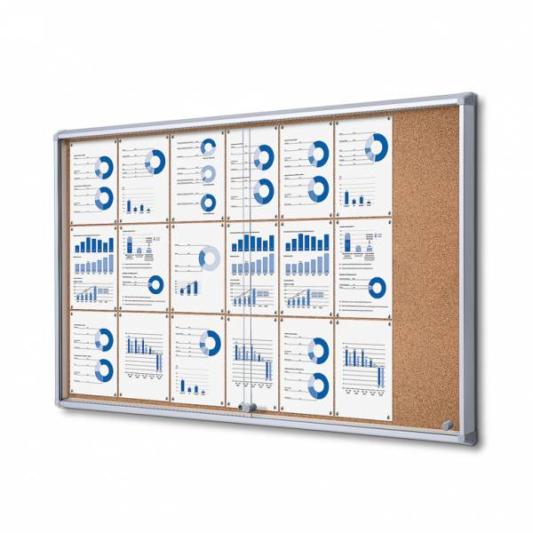 Cork Board with sliding doors (21xA4)