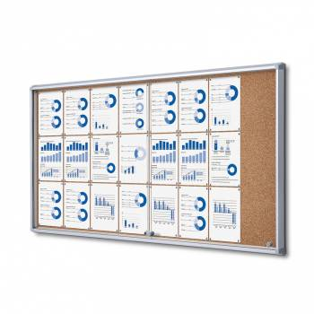 SCSLC Cork Sliding Door Notice Board 24xA4