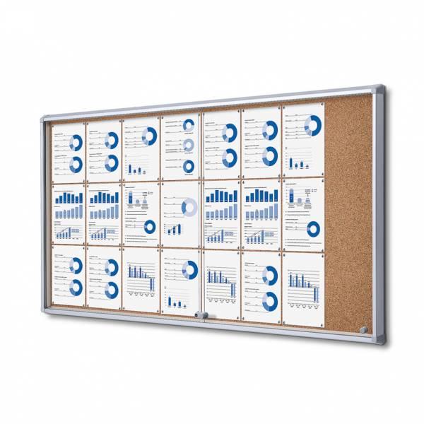Cork Board with sliding doors (24xA4)