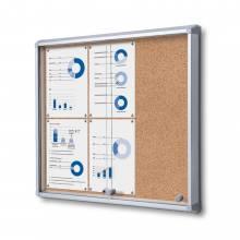 Cork Board with sliding doors (6xA4)