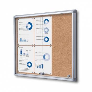 SCSLC Cork Sliding Door Notice Board 6xA4
