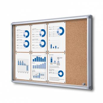 SCSLC Cork Sliding Door Notice Board 8xA4