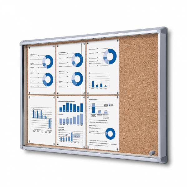 Cork Board with sliding doors (8xA4)
