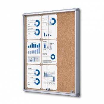 SCSLC Cork Sliding Door Notice Board 9xA4