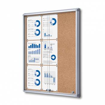 SCSLC Cork Sliding Door Notice Board 9xA4