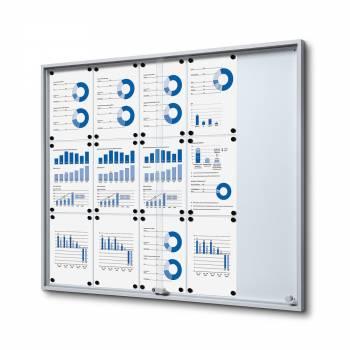 15xA4 Indoor Lockable Noticeboard with sliding doors SLIM