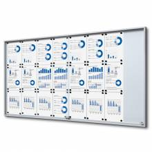 Indoor Lockable Noticeboard with Sliding Doors