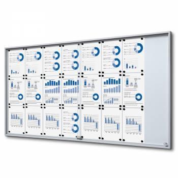 24xA4 Indoor Lockable Noticeboard with sliding doors SLIM