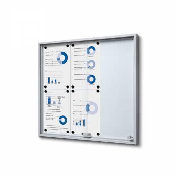 6xA4 Indoor Lockable Noticeboard with sliding doors SLIM