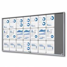 Felt Indoor Lockable Noticeboard with Sliding Doors SLIM