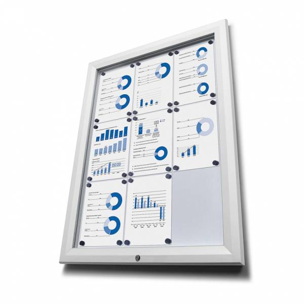 Outdoor Noticeboard  - White (9xA4)