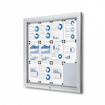Lockable Notice Board 12xA4
