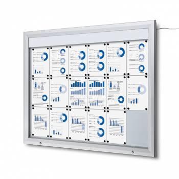 Lockable Notice Board 18xA4 LED
